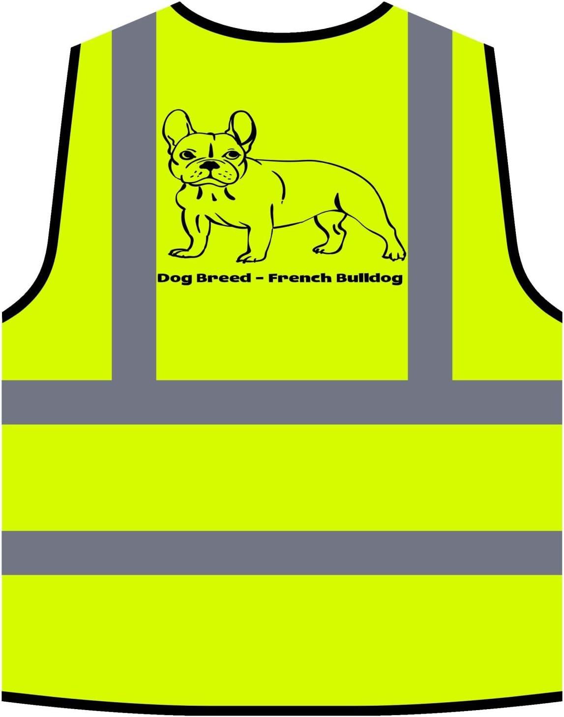 Dog Breed French Bulldog Yellow//Orange Safety Vest s810v