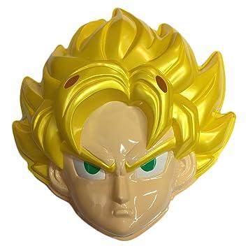 Máscara Carnaval niño oficial con elástico Talla única Dragonball Goku Super Sayan
