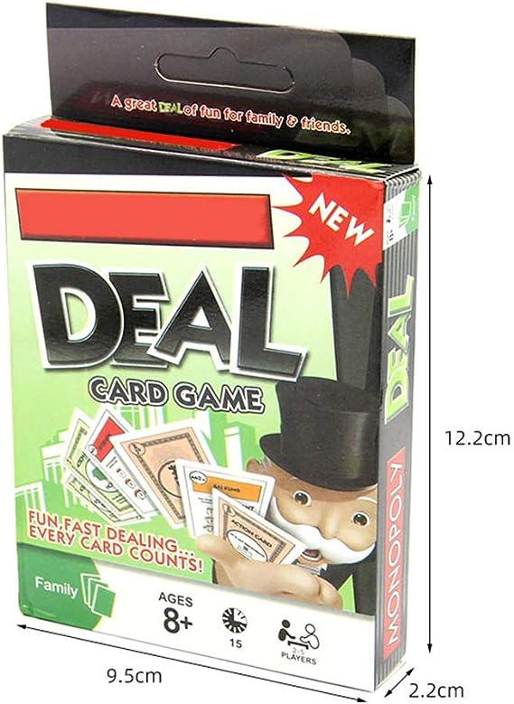 Versión en inglés Monopoly Desktop Card Game Play Card Toy Family Party Board Game: Amazon.es: Hogar