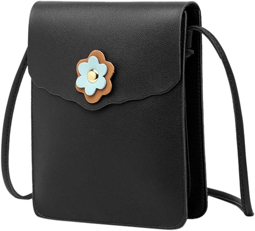 LLNONG Women Cute Flower Decor Small Square Bags Crossbody Bags Casual Handbag Purse Crossbody Bags