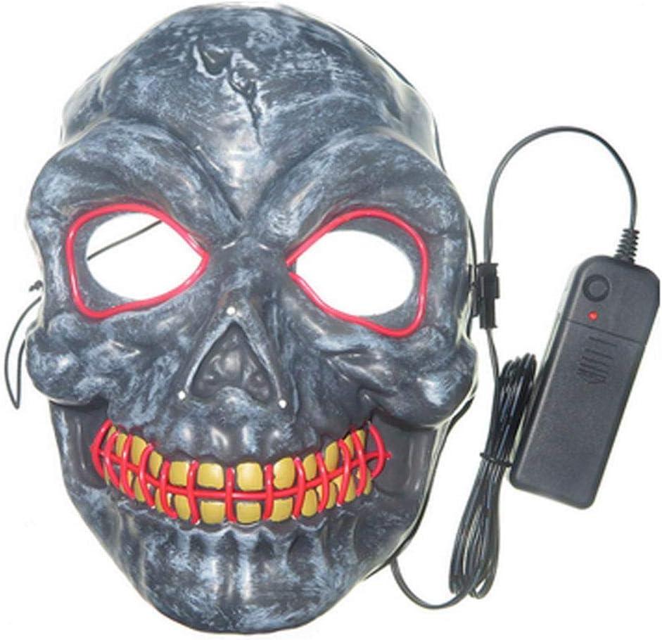UMIWE Máscara LED Halloween, Craneo Esqueleto Mascaras Hacker Mask ...