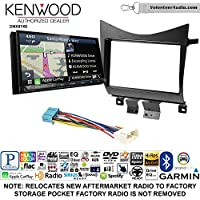 Volunteer Audio Kenwood DNX874S Double Din Radio Install Kit with GPS Navigation Apple CarPlay Android Auto Fits 2003-2007 Accord