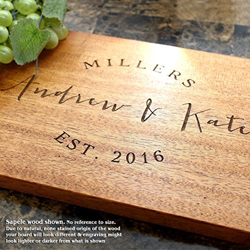 Board, Custom Keepsake, Engraved Serving Cheese Plate, Wedding, Anniversary, Engagement, Housewarming, Birthday, Corporate, Closing Gift #026 ()