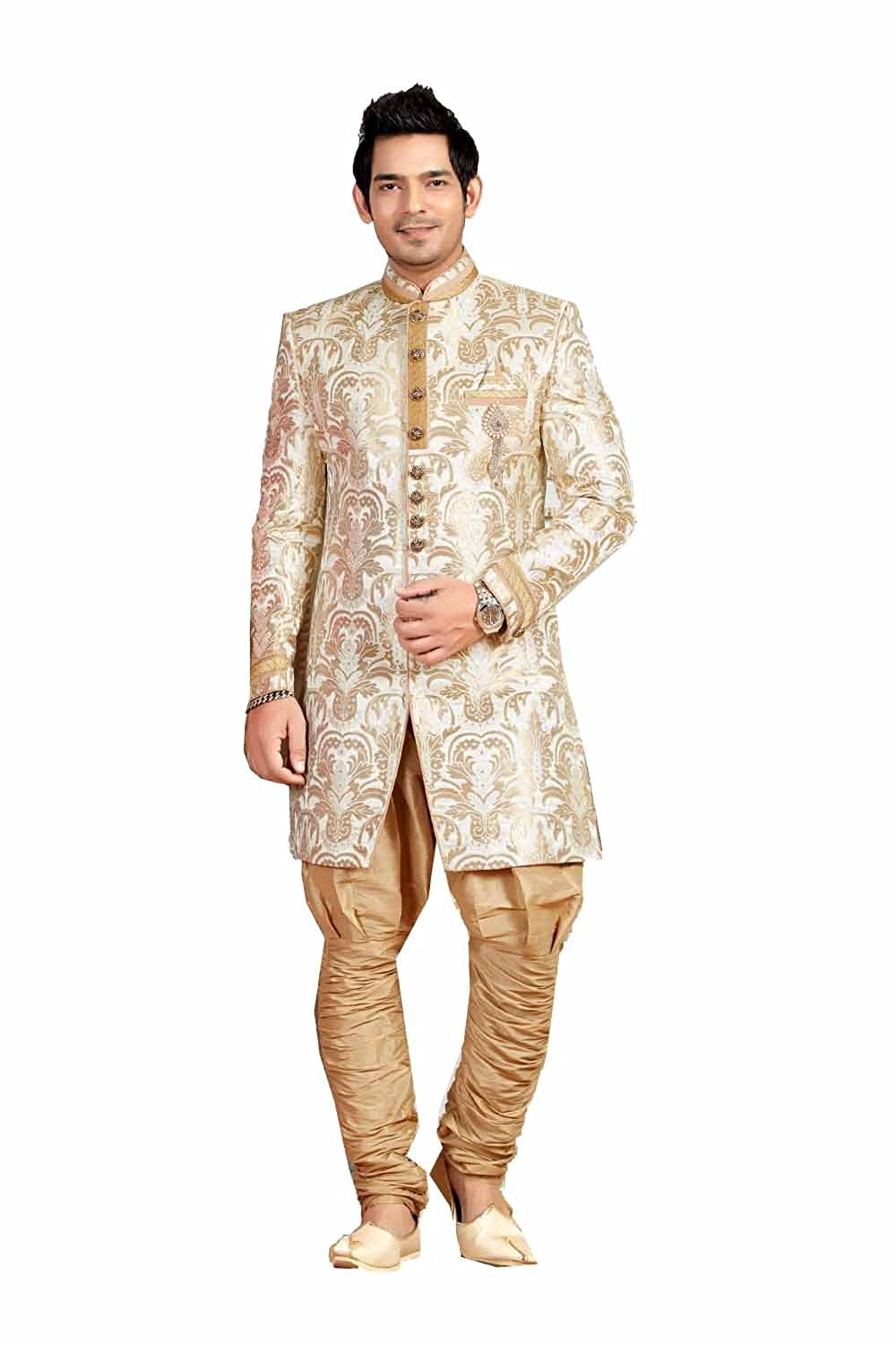 Amazon Com Striking Indian Style Sherwani For Men Wedding
