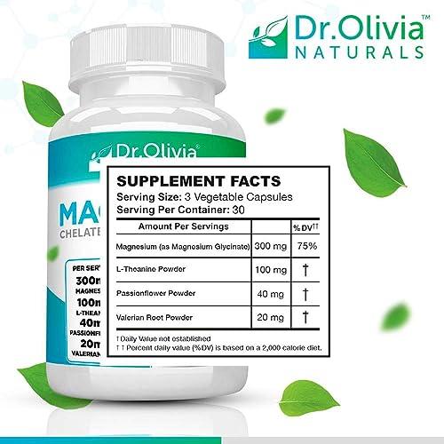 Dr. Olivia Naturals Magnesium Chelated Glycinate Complex – 90 Capsules