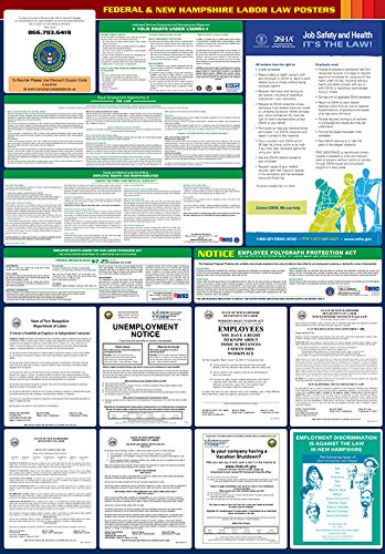 2017 New Hampshire State and Federal All-in-one Labor Law Poster - English