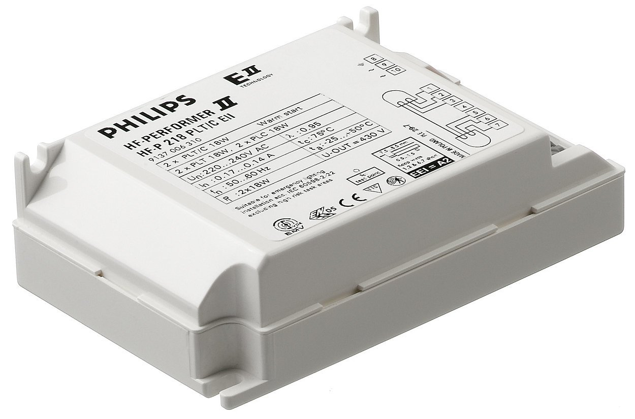 Philips Electronic Ballast T5C=1x22/40w DE=26w 2D=38w TE=1x26/32/42w L=1x18/24w Philips Electronics 91397530
