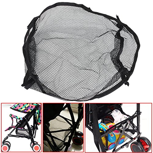 Yosoo Universal Black Under Storage Net Bag For Buggy Stroller Pram Basket Shopping Pushchair Pocket