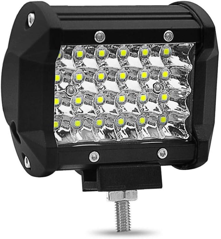 Foco Led Tractor LED Light Bar 4Inch Led de trabajo Luces de 72W Spot Spot Luces de conducci/ón de carretera Led de respaldo Luces de conducci/ón Parachoques Parachoques Parabrisas para cami/ón Jeep Pola