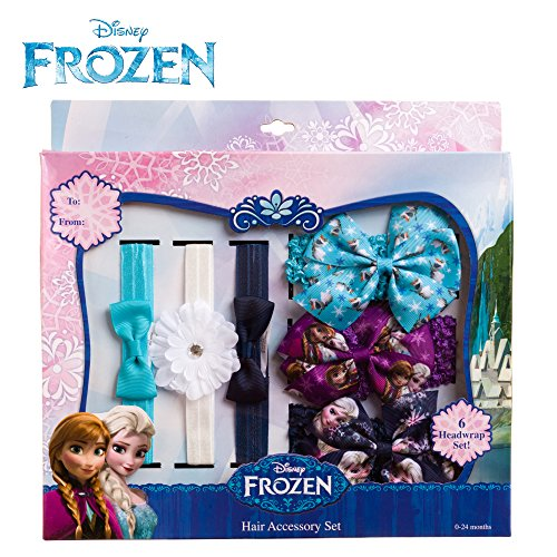 [Disney Frozen Olaf Anna Elsa Girls Toddler Headwraps Set 6PK Blue Purple White] (Anna Costume Ideas)