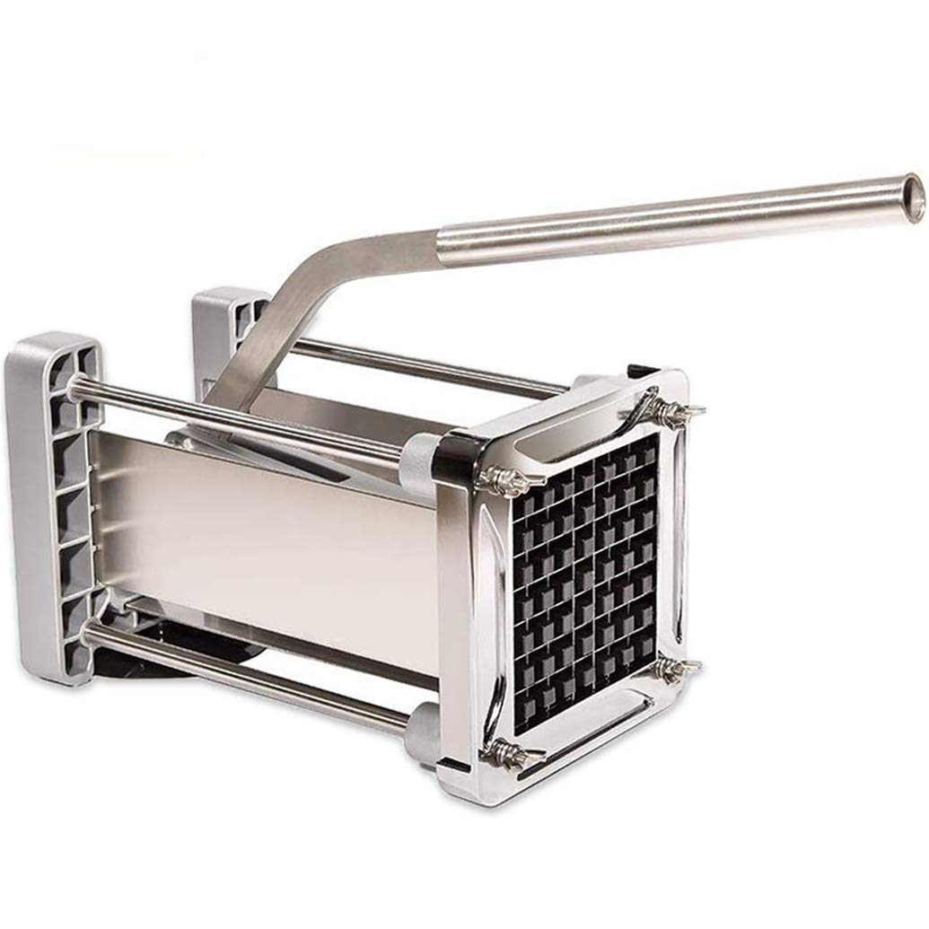 French Fry Cutter, CUGLB Professional Commercial Grade Heavy Duty Potato Chipper Cutter with 1/2 Inch Cutting Blades for Potatoes, Carrots etc. by CUGLB