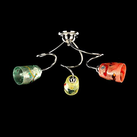 ITALY ITALY - CEILING LAMP 3 LIGHTS- MURANO GLASS - DIFFERENT COLORS ...