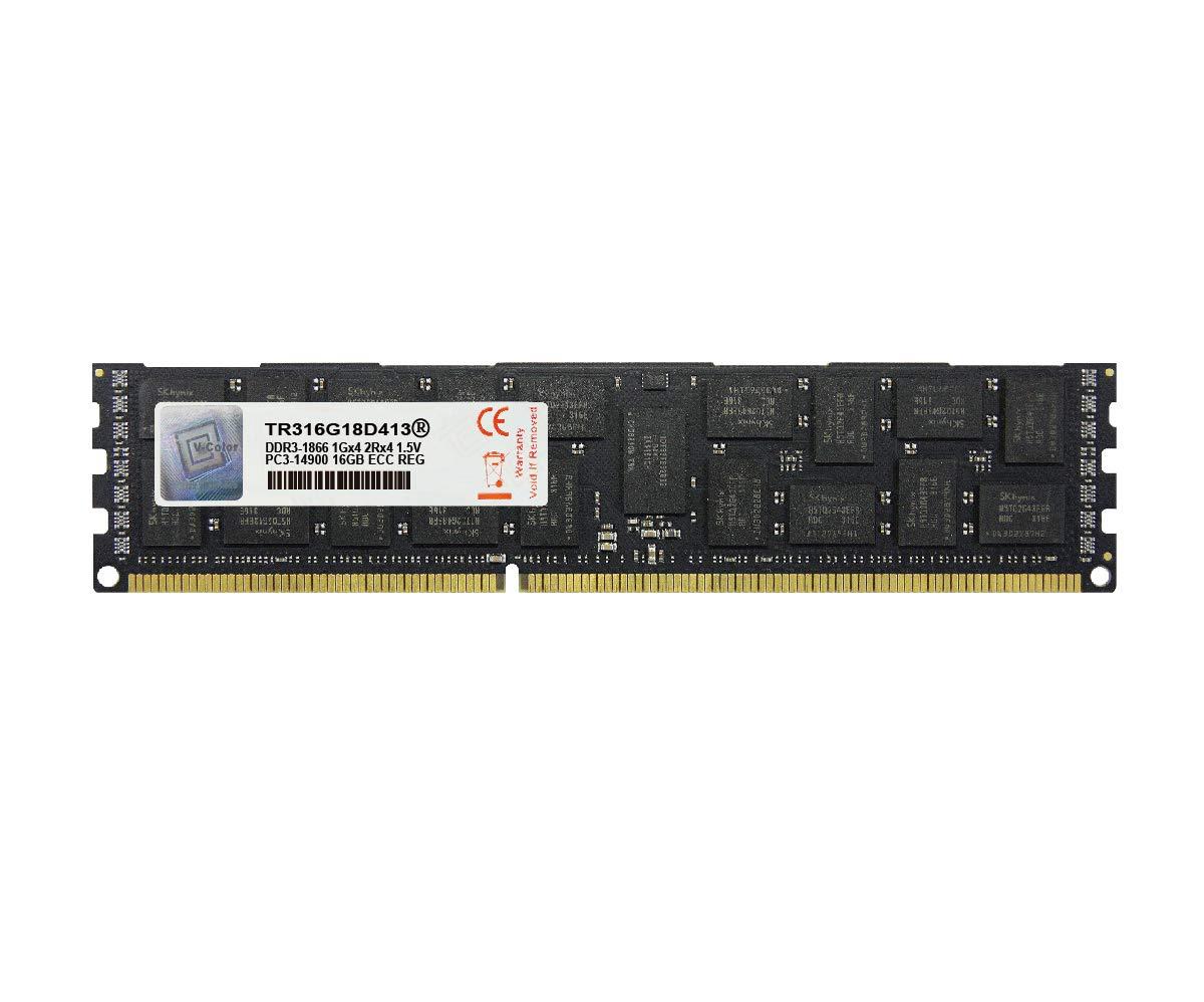 Memoria Ram 16gb V-color (1 X 16gb) Dual Rank Server Modulo Upgrade Ddr3 1866mhz (pc3-14900) Ecc Registered Dimm Para Ap
