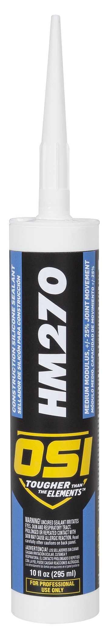 OSI HM270 White Silicone Construction Sealant 10-Fluid Ounce Cartridge (1493960) by OSI