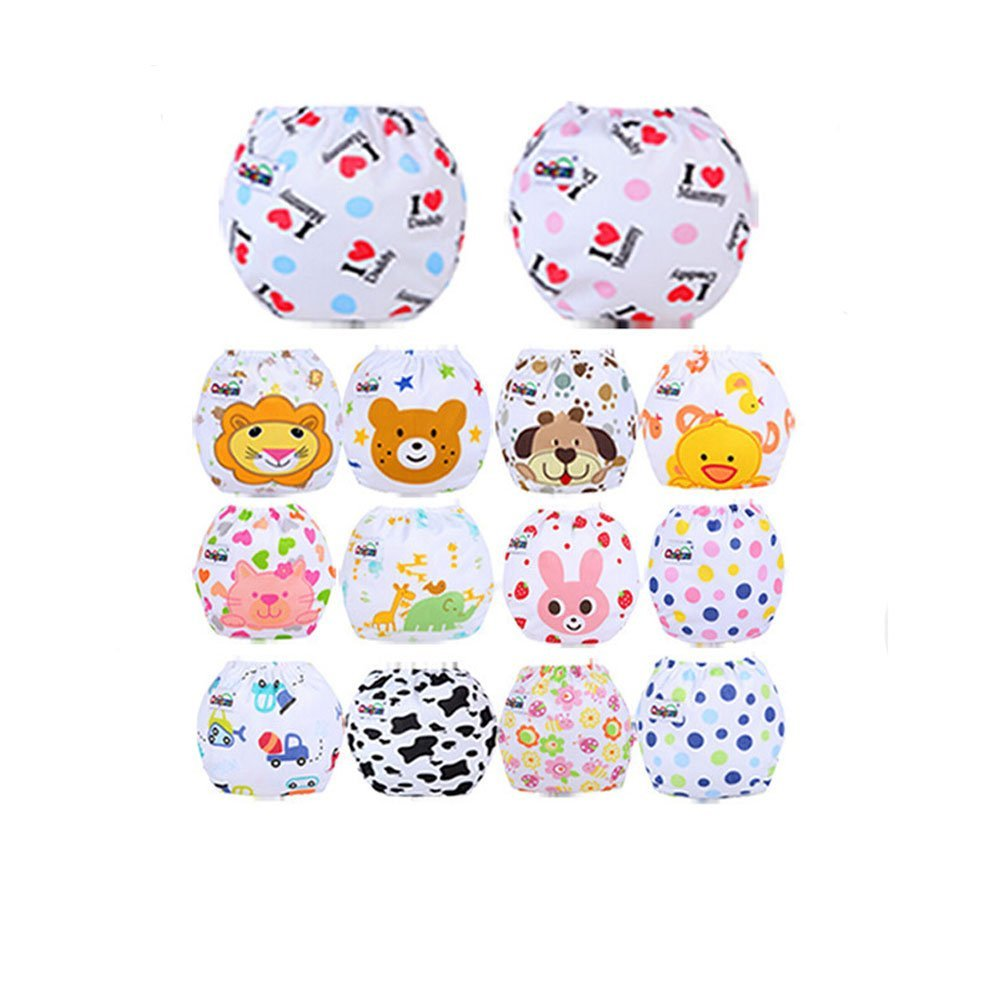 CuteOn 10 St¨¹ck Baby Kind Potty Training Pants waschbare Tuch Windel Windel Unterw?sche