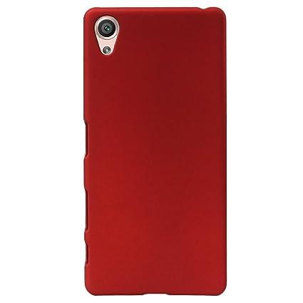 newest e0b4e 54c20 Johra Rubberised Matte Hard Back Plastic Case Cover for Xperia XA1 (Red)