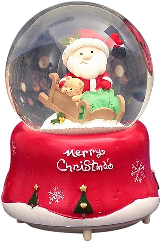 Caja de música de Papá Noel, bola de nieve de Navidad, bola de ...
