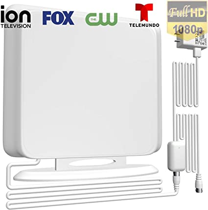 Upgraded Long Range Digital HDTV Antenna High Reception Digital TV Antenna for All Older TVs Fire TV Stick 4K//Vhf//Uhf//1080P Free Channels 13ft Coax Indoor TV Antenna Amplified Channels