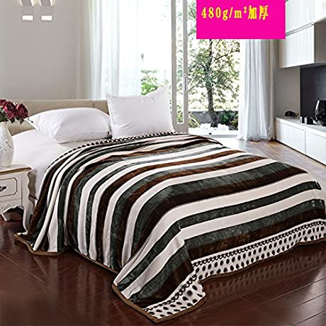Znzbzt Blanket Extra Fleece Blanket Flannel Blanket Coral Fleece Blanket Single Bed Plus A Thick Blanket 200x230cm Classic About 500 Grams Per Square Meter