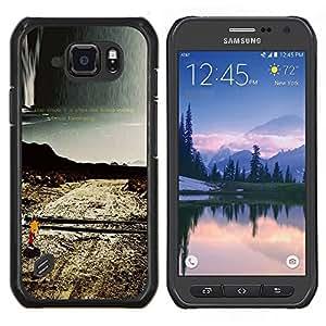 TECHCASE---Cubierta de la caja de protección para la piel dura ** Samsung Galaxy S6 Active G890A ** --Soledad Camino solo Naturaleza Desierta