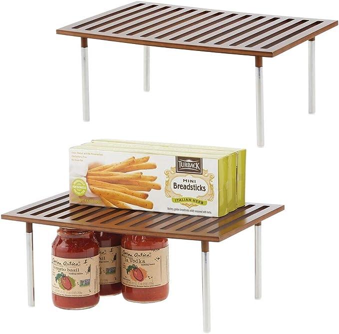 mDesign Juego de 2 estanterías de cocina – Prácticas baldas de ...