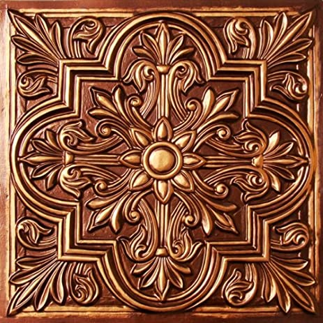 drop ceiling tiles 2x2 302 antique copper faux plastic fire ratedclass a