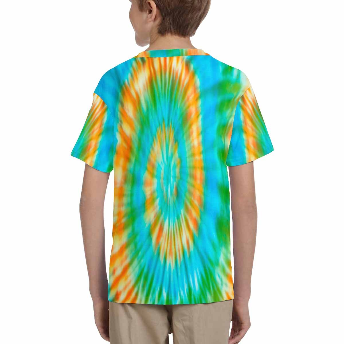 XS-XL INTERESTPRINT Kids T-Shirt Blur Fabric Tie Dye Bright Colors
