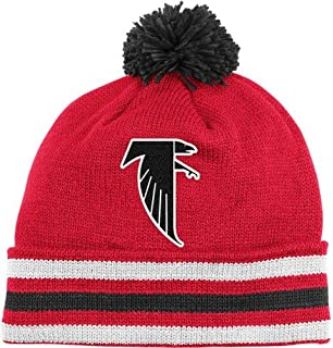 a1dff0a39c6 NFL Mitchell   Ness Atlanta Falcons Red-Black Throwback Jersey Striped  Cuffed Knit Beanie