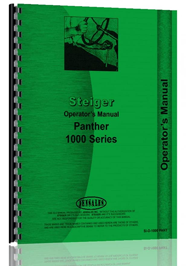 amazon com steiger tractor operators manual si o 1000 pant home rh amazon com