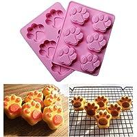 Dealglad® silicone cane gatto impronta zampa torta Cookie Chocolate pudding Jelly sapone fondente stampi cottura che decora gli attrezzi