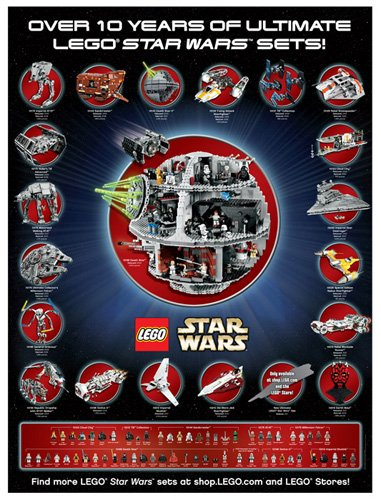 LEGO Star Wars Exclusive Limited Edition Ultimate Star Wars Poster - Lego Star Wars Poster