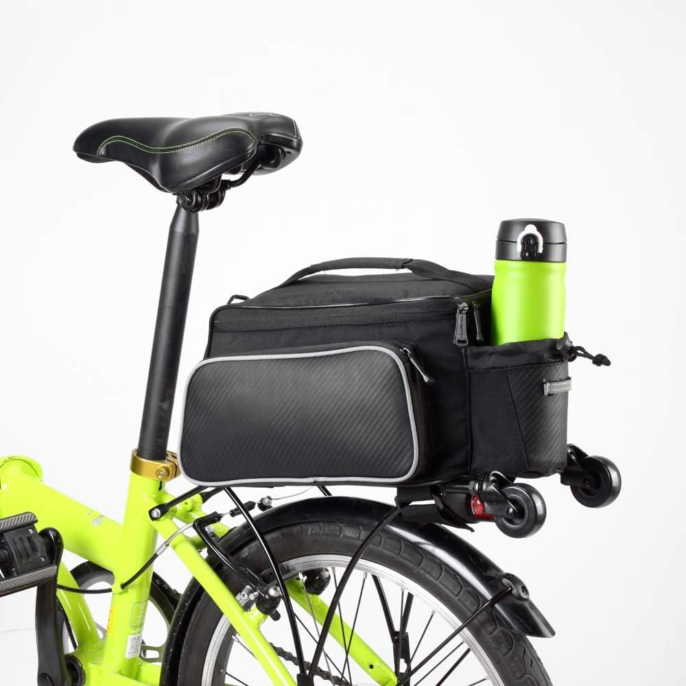 PORTAEQUIPAJES Bolsa Alforja Trasera Bicicleta, 10L Impermeable ...