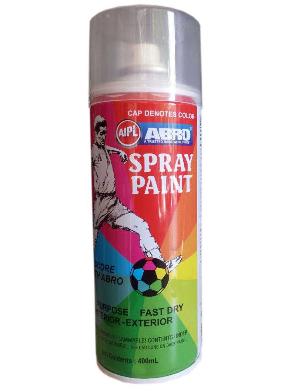 Abro Colour Spray Paint (400ml, Silver): Amazon.in: Car
