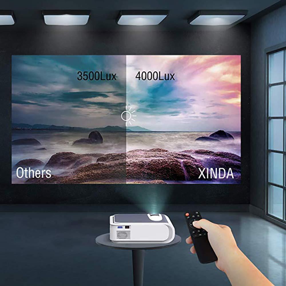Zks Proyector De Vídeo, Proyector De Vídeo Full HD LED Proyector ...
