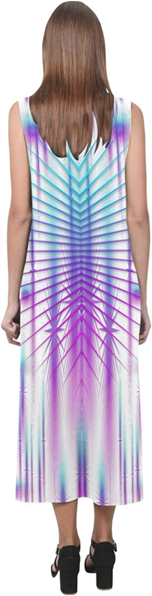 JC-Dress Sleeveless Dress Star Fall In Rainbow Landscape Party Beach Open Fork Long Dress