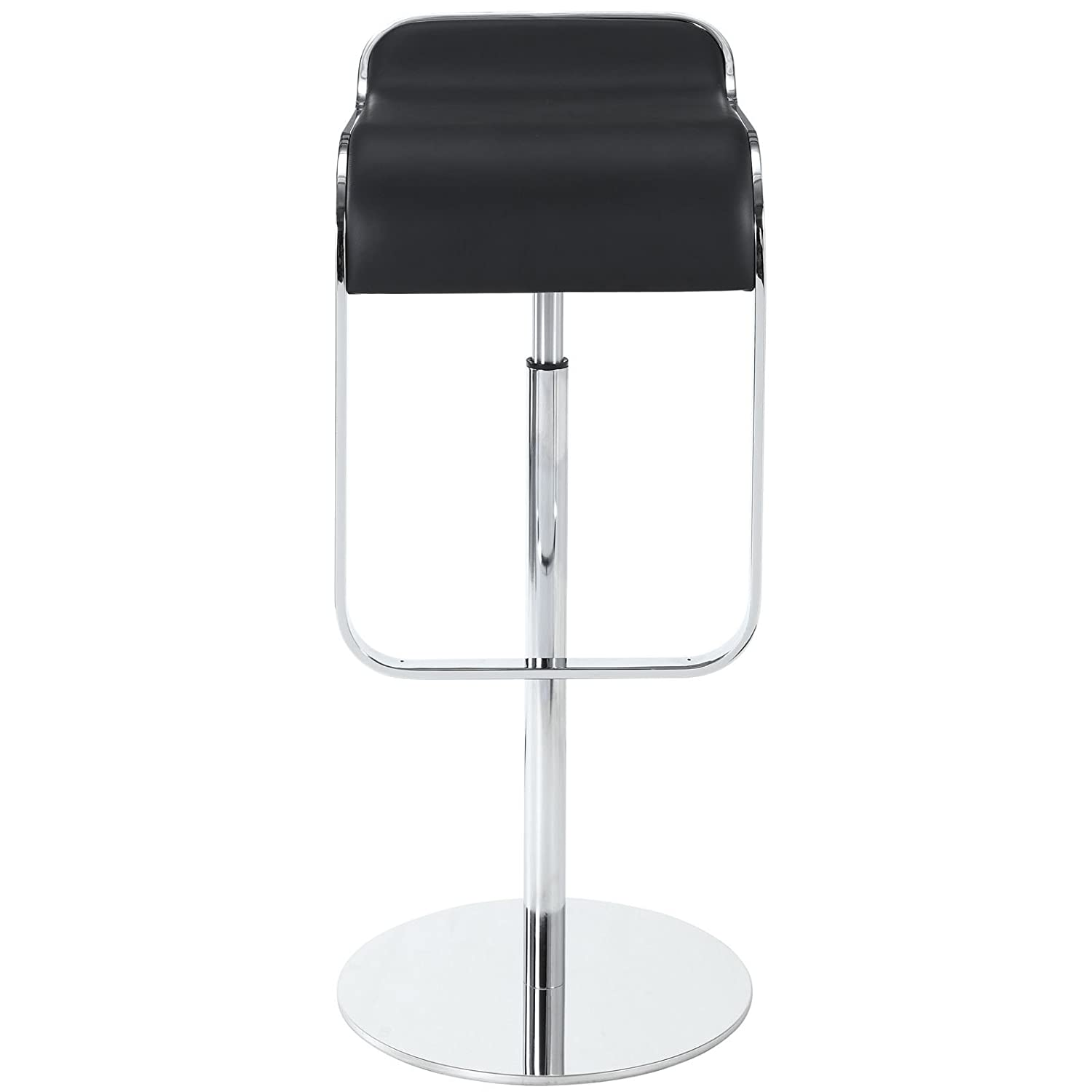 Amazon Modway LEM Style Piston Bar Stool in Black Genuine