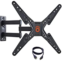Echogear EGMF1-BK Full Motion Articulating TV Wall Mount Bracket for most 26-55 Inch TVs with 20-Inch of Extension,15º of Tilt, and 180º of Swivel for LED, LCD, OLED and Plasma Flat Screen TVs