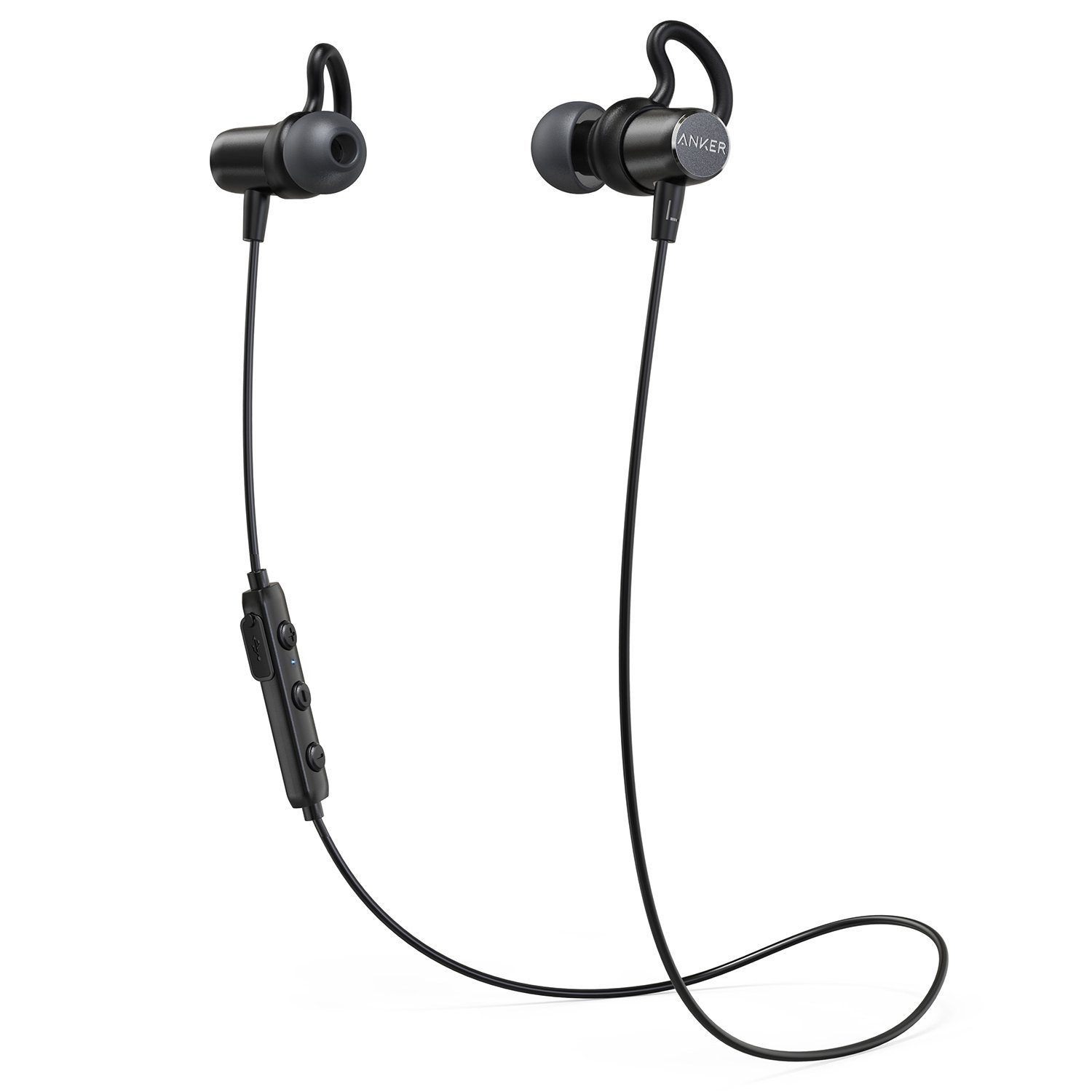 Anker SoundBuds Surge Lightweight Wireless Headphones, Bluetooth 4.1 Sports Earphones with Water-Resistant Nano Coating, Running Workout Headset with Magnetic Connector and Carry Pouch by Anker