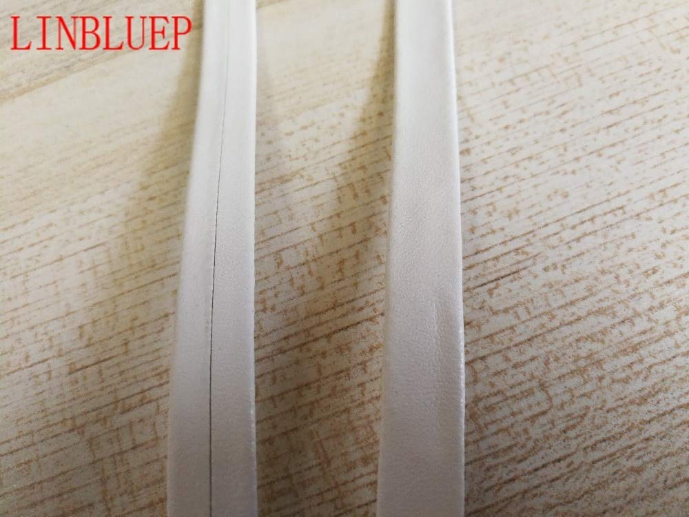 Lavenz 5Yards 5mm-30mm White Faux Leather BIAS Binding Tape BIAS Tape ping by Lavenz