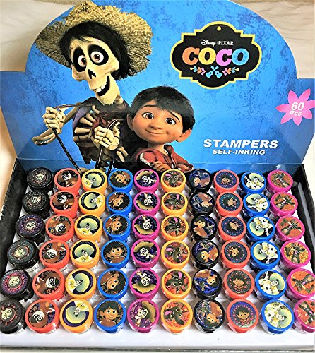 Disney Coco Self-inking Stamps Stampers Pencil Topper Authentic Disney Licensed-60 PCS -