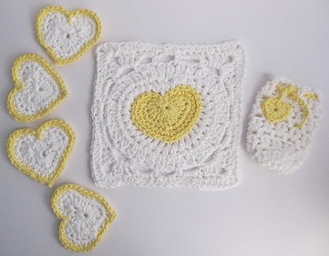 Amazon.com: Cotton Crochet Bath Set / Cotton Soap Saver, Scrubbies ...
