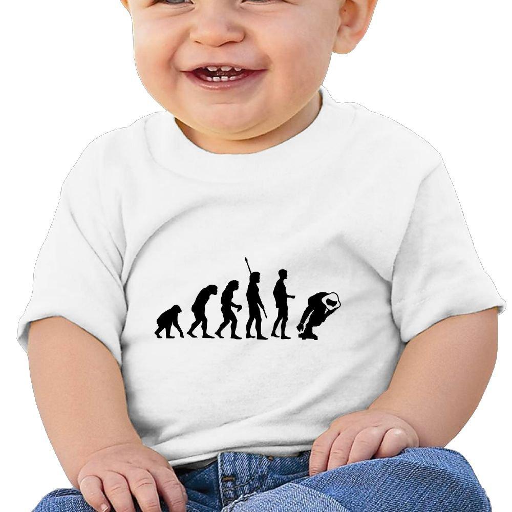 Sfjgbfjs Baby T-Shirt Skateboard Longboard Skater Soft and Cozy Infant T-Shirt