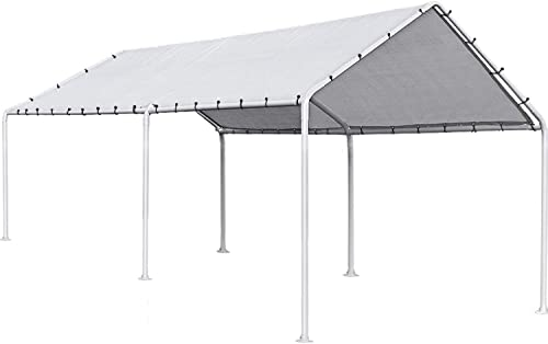 FDW Carport Car Port Party Tent Car Tent 10×20 Canopy Tent Heavy Duty Carport Canopy Metal Carport Tent Carport Kits Outdoor Garden Gazebo