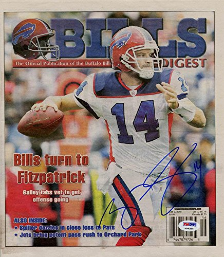 Ryan Fitzpatrick SIGNED Bills Digest NO LABEL AUTOGRAPHED - PSA DNA  Certified - NFL Autographed Football Cards at Amazon s Sports Collectibles  Store 3727b1269