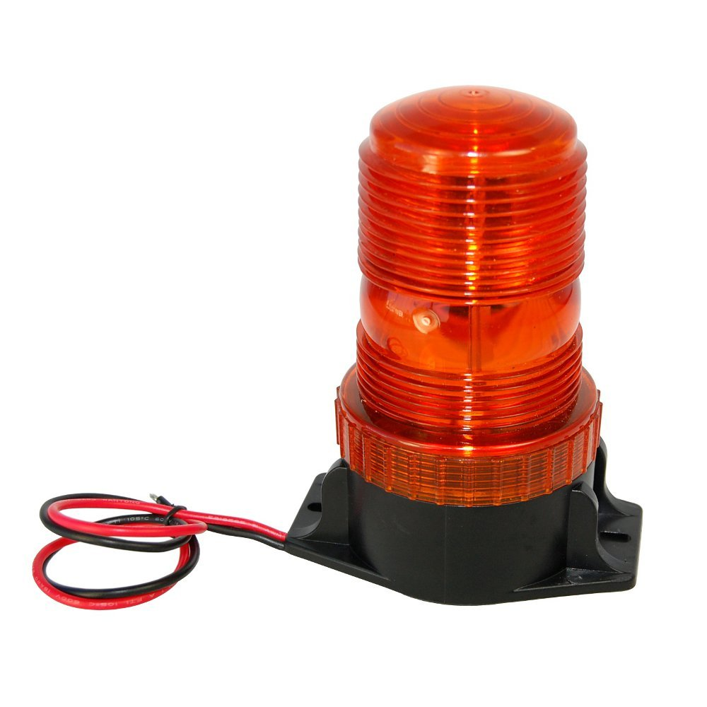 Hqrp Mini Beacon Amber Strobe Light For Electric Rider Circuit Forklift Yale Erc030 040va Erc045 070vg Erc070 120hh Erp030 040vf 040vt