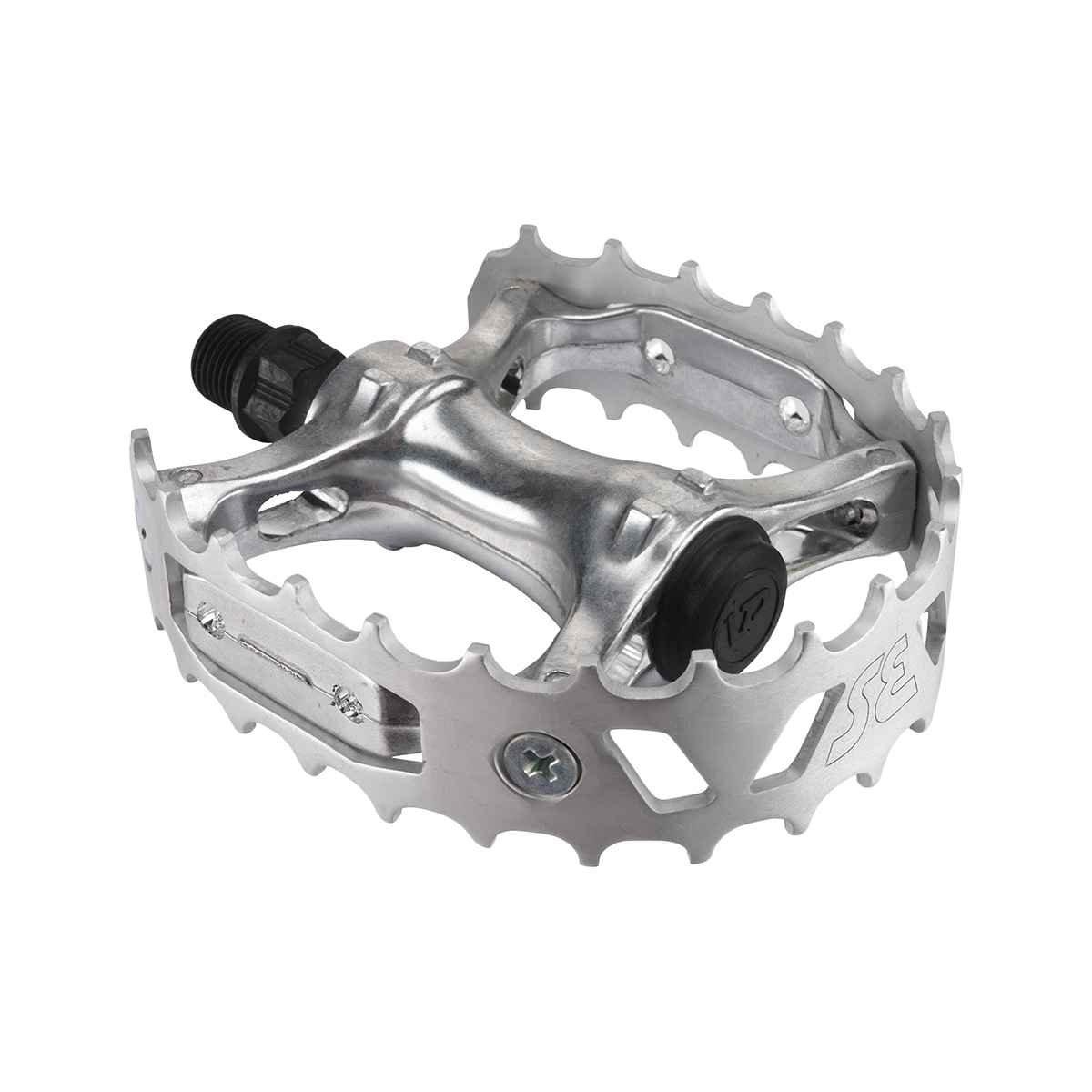 Se Bear Trap BMXバイクペダル B0747TMP6V シルバー シルバー