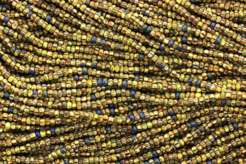 (Aged Striped Seed Beads,Striped Picasso Mix Seed Beads,10/0)