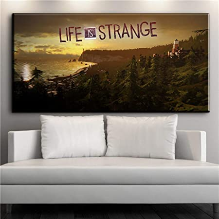 Nimcg Monde Carte Toile Peinture Murale Art Déco Impression