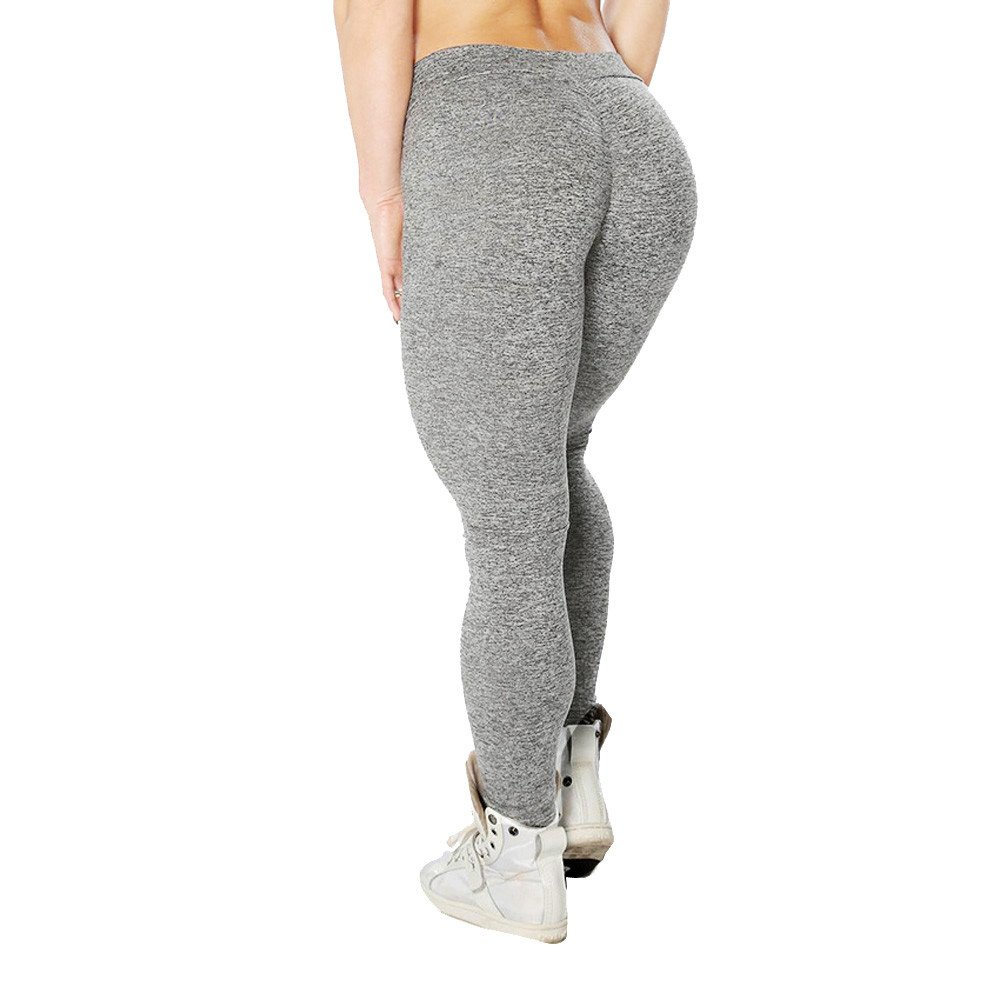 Dressffe Fitness & Sports, High Waist Ankle-Length Pants Yaga Pants for Women, Athletic Pants Breathable suit for Workout Leggings Fitness Sports Gym Running Pencil Pants (S, GY)