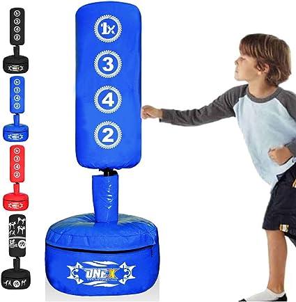 Pour kickboxing ONEX Sac de frappe sur pied pour enfants Accessoire de sport arts martiaux MMA Accessoire de gymnastique pour la maison